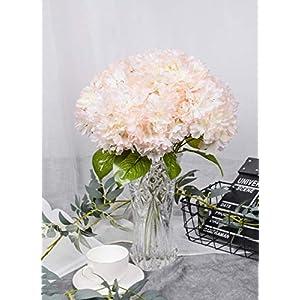 LUSHIDI Artificial Silk Flower 5 Heads Cherry Blossom Bouquet for Home Wedding Decor (Pink) 69