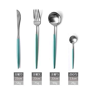 Cuchara, cuchillo, tenedor, café, portugués europeo, acero ...