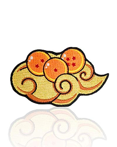 Dragon Ball Z Patch Iron on & Sew on Embroidered Starry Cloud Applique Decoration DIY Craft for Tshirts, Denim Jackets, Hats, Bags
