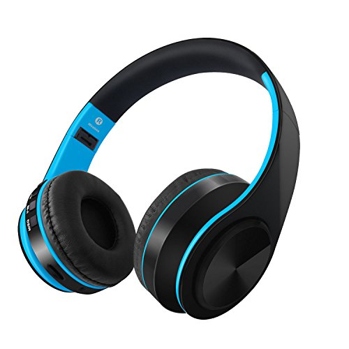 Intera Bluetooth Headphones Over Ear, 10H Battery, Passive Noise Cancelling Wireless Headset, V4.2 HiFi Stereo Foldable Wireless Earphones, Soft Memory-Protein Earmuffs Headphones with Built in Mic