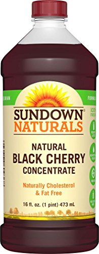 Sundown Naturals Black Cherry Concentrate Liquid, 16 Ounces