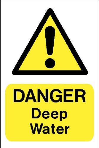 Señal de peligro: peligro de profundidad agua A4 cartel ...