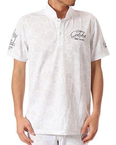 セクションインフレーション図ガッチャゴルフ GOTCHA GOLF 半袖シャツ?ポロシャツ UVカットドライペイズリー半袖ポロシャツ ホワイト S