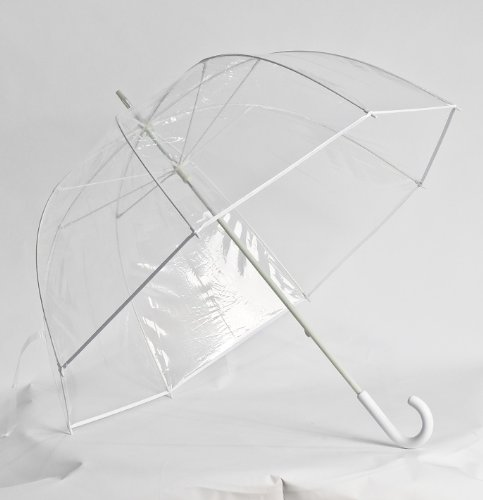 Clear Golf Bubble Umbrella Color: White Trim ()
