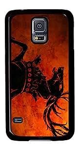 Abstract Horse DIY Hard Shell Black Best Designed Samsung Galaxy S5 I9600 Case