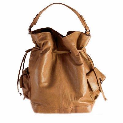 BACCINI bolso de hombro SEADY: cartera con asa larga para mujer bandolera de cuero beige - (40 x 34 x 20cm)