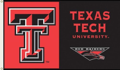 NCAA Texas Tech Red Raiders 3-by-5 Foot Flag with Grommets
