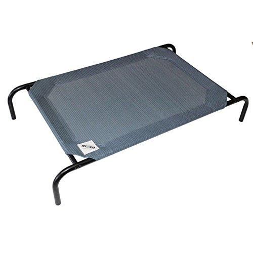 Coolaroo The Original Elevated Steel Pet Bed, Blue (Coolaroo Steel Pet Bed)