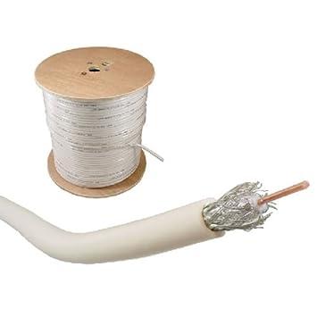 RG6 Cable Coaxial – Bulk 1000 ft. Carrete – Doble blindaje