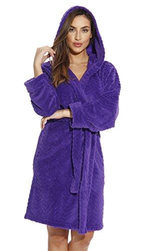 Just Love 6341-Purple-L Kimono Robe/Hooded Bath Robes for Women]()