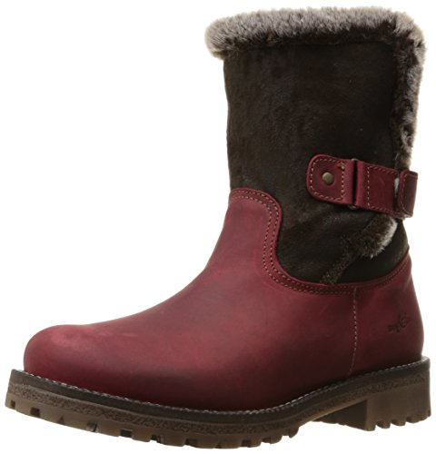 Dark Brown Face (Bos. & Co. Women's Candy Snow Boot, Red/Dark Brown Mountain/Imitation Double Face, 40 EU/9-9.5 M US)