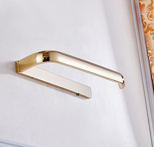 ROSE CREATE Gold Brass Towel Holder, Wall Mounted Towel Rack Bar Hanger, Bathroom Kitchen Rustproof Golden Towel Rail - Gold by ROSE CREATE (Image #4)
