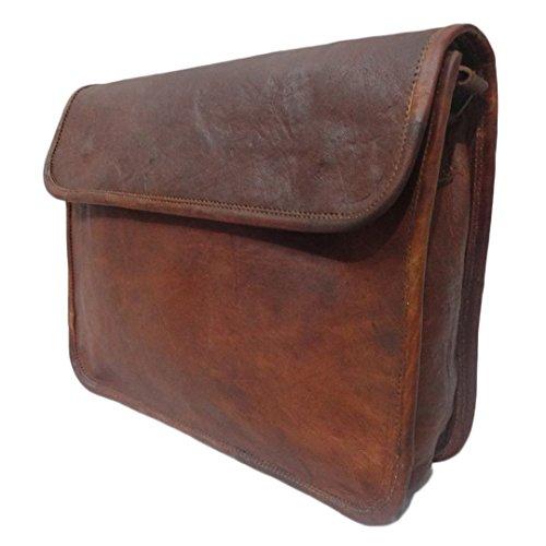 Mad Over Shopping, Cuir véritable Vintage sac à bandoulière rabat épaule 13