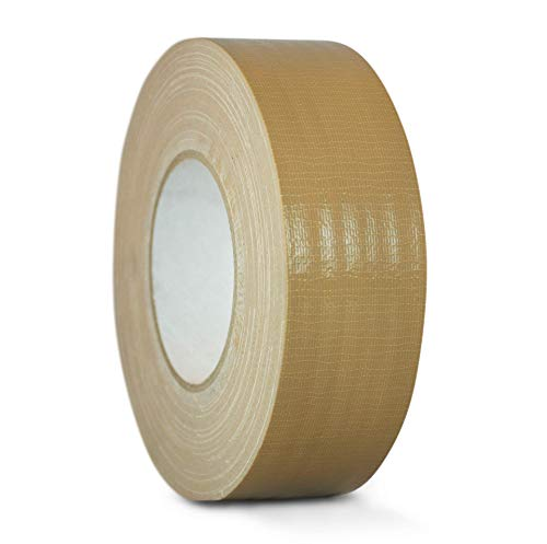 WOD DTC10 Advanced Strength Industrial Grade Tan (Beige) Duct Tape, 2 inch x 60 yds. Waterproof, UV Resistant For Crafts & Home Improvement (Available in Multiple Sizes & Colors)