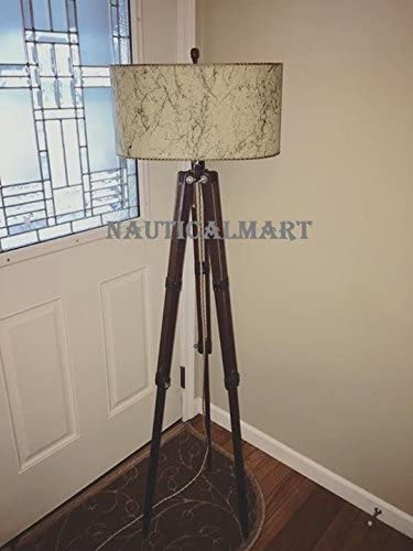 Nauticalmart Vintage Tripod Floor Lamp Living Room Bed Room
