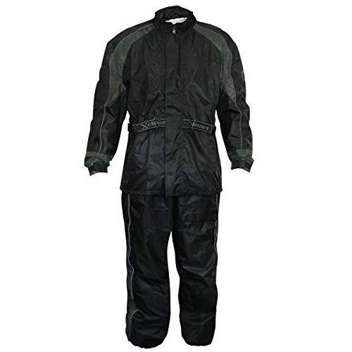 Xelement RN-4727 Men's Black Two-Piece Armored Rain Suit - X-Large