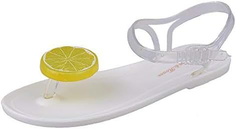 Elevin(TM) Women Summer Fashion Fruit Plate Peeptoe Flat Flip Flop Beach Sandals Shoes