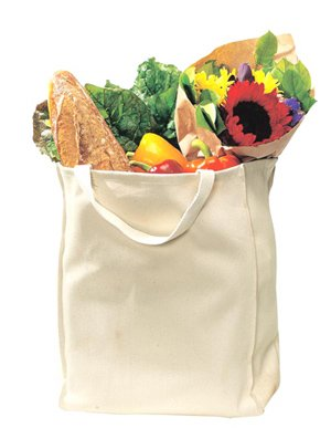 Port & Company Grocery Tote - Port & Company - Reusable Grocery Tote Bag,One Size,Natural