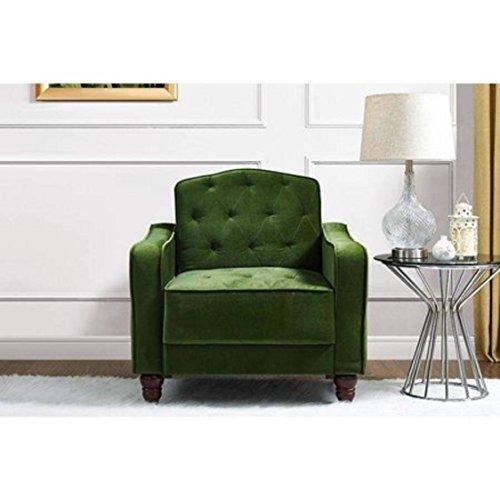 Novogratz 2132959N Vintage Tufted Armchair, Green (Sofa Vintage Velvet)