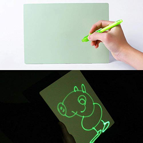 Bulary Children's Sketchpad Toys Luminous Drawing Board PVC A4 Draw with Light in Darkness