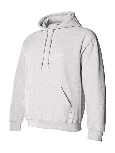 Gildan G125 DryBlend Adult Hooded Sweatshirt, Ash, Large ()