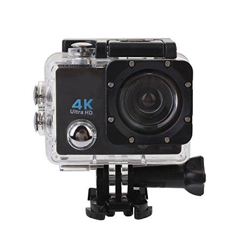 TOPmountain Cámara para Deportes 4K Action Camera, Cámara Impermeable para Video, 2 Pulgadas DC 5V 1A Videocámara...