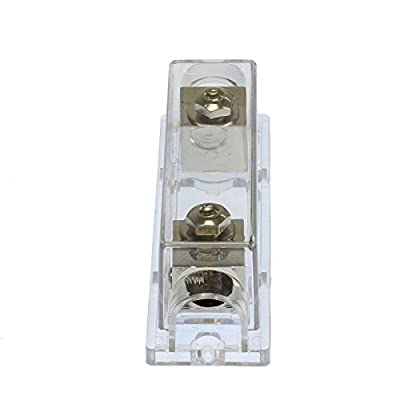 VOODOO (1) ANL Fuse & (1) Inline Fuseholder Battery Install Kit 1/0 Gauge 1FT (50 Amp Fuse): Automotive