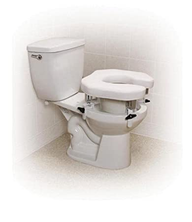 Strange Amazon Com Raised Toilet Seat W 4 Locking Brackets Open Onthecornerstone Fun Painted Chair Ideas Images Onthecornerstoneorg