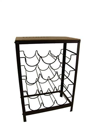 """Firefly Home Collection Iron Wine Rack Table, 18 x 10 x 26"""""""