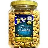 Planters Fancy Whole Cashews with Sea Salt, 38 oz (Pack of 2)