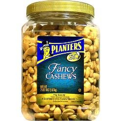 Amazon.com : Planters Fancy Whole Cashews with Sea Salt, 38 oz (Pack on planters chocolate covered cashews, planters honey roasted cashews, sam's club cashews, planters cashews with sea salt butter, planters deluxe whole cashews, planters dry roasted cashews,
