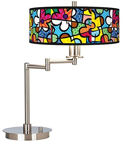 Britto Flowers Giclee CFL Swing Arm Desk Lamp - Britto