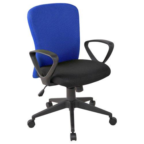 カグクロ オフィスチェア シャトルチェア 肘付き ブルー SC-001-A-BL B011T3ACEU  ブルー