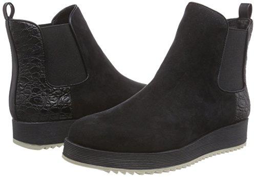 Suède Chelsea Schwarz Micro Strada Damen Schwarze Look La Boots 1501 Black EOAXwfqAx