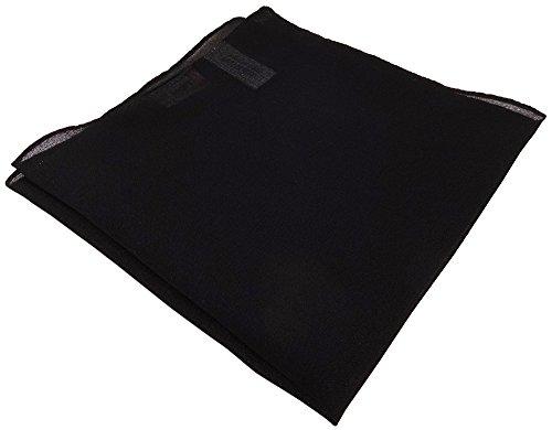 Chiffon TigerTie pochette en noir unicolor - tissu taille 30 x 30 cm
