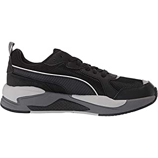 PUMA X-Ray Sneaker, Black Black-Metallic Silver-High Rise, 14 M US