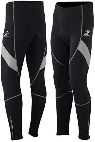 Z Sports Mens Cycling Winter Tights CoolMax Padded Leggings Trousers