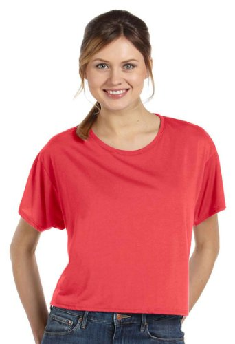 Bella 8881 Womens Flowy Boxy Tee - Coral, Small