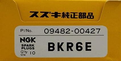 Suzuki fueraborda (09482 – 00427) NGK BKR6E caja de 10 Bujías de 4 tiempos