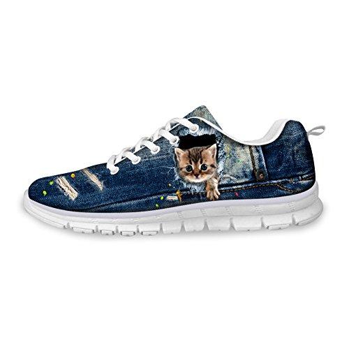 Bigcardesigns Cute Cat Design Sneaker for Men Women Teenagers 42