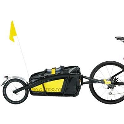 Topeak Journey Trailer Aluminum Main Frame Water Proof Drybag with Rear wheel, Rear Fender and Flag