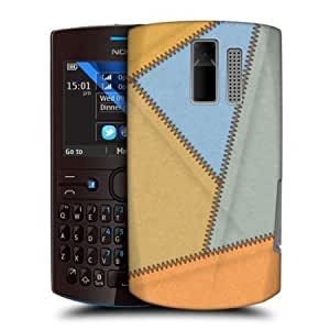 Bloutina Head Case Sunrise Leather Patched Up Snap-on Back Case Cover For Nokia Asha 205
