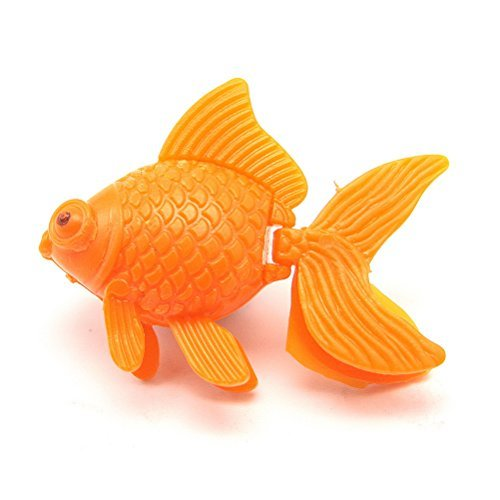 Gold Wing 5 Pcs Aquarium Fish Tank Artificial Plastic Floating Goldfish Ornament Orange