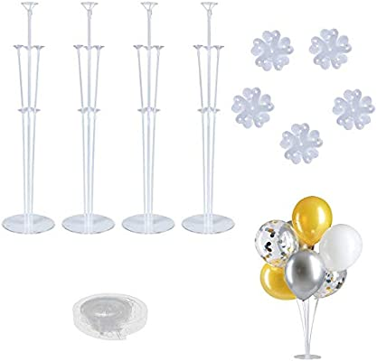 Amazon.com: Juego de 4 soportes para globos de mesa ...