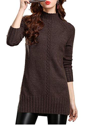 huge discount 4060d 8ad53 Cheerlife Damen Strickpullover Strickkleid Sweater Rundhals ...