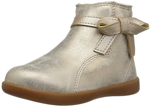 UGG Girls' T Libbie Metallic Fashion Boot, Gold, 11 M US Little Kid