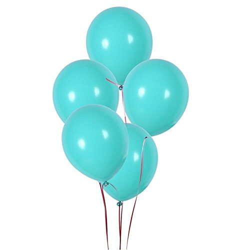 12 Inch Blue Balloons ,Blue Premium Latex Balloons Birthday Balloons Party Decoration Balloons (100 Pcs) (Thick -Each balloon is 3.2g)]()