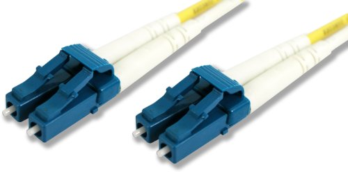 Lynn Electronics LCLCDUPSM-5M 9/125 Yellow Duplex Single-Mode Fiber Optic Patch Cable, LC-LC, 5 Meters in Length Yellow