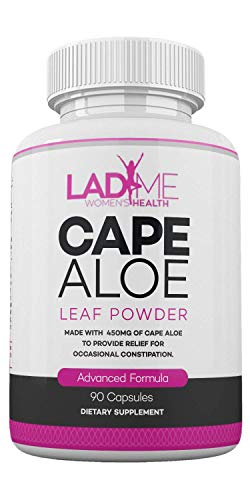 Pure Cape Aloe Herbal Laxative for Constipation Relief - Healthy Bowel Movement - Natural Colon Cleanse & Detox Dietary Supplement - Specially Designed for Women by Ladyme - 90 Capsules