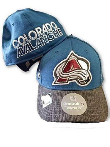 - Reebok Colorado Avalanche NHL Travel and Training Blue Gray Hat Cap L/XL